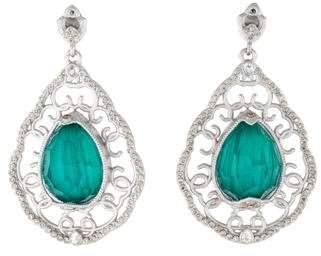 Armenta New World Malachite and Topaz Diamond Earrings