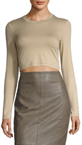 Torn By Ronny Kobo Ribbed Crop Top