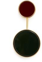 Marni Two-circle resin brooch