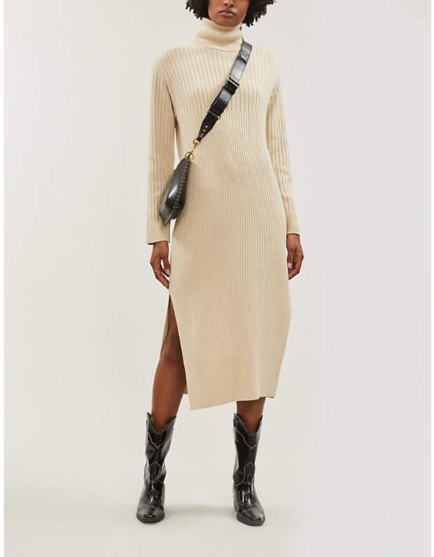 See by Chloe High-neck wool-blend midi dress
