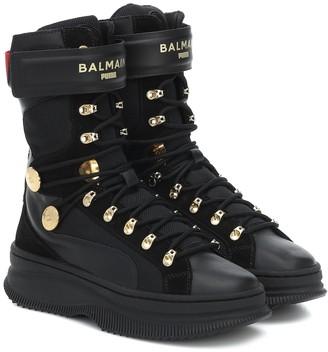 Puma x Balmain Deva leather sneakers