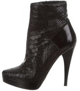 Barbara Bui Python Ankle Boots
