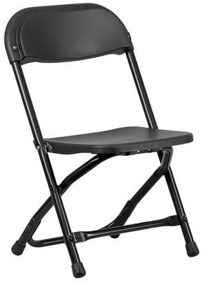 Flash Furniture 2 Pk. Kids Black Plastic Folding Chair