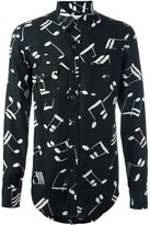 Saint Laurent signature 70's collar printed shirt