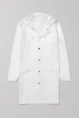 Rains Hooded Matte-tpu Raincoat - White