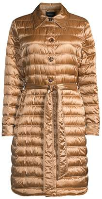 Lafayette 148 New York Delroy Quilted Tech Satin Coat