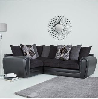Monico Floral Left Hand Double Arm Corner Group Sofa