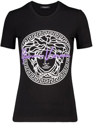 Versace Logo cotton T-shirt