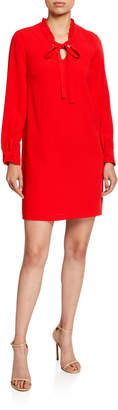 Cynthia Steffe Cece By Moss Crepe Ruffled Collared Dress