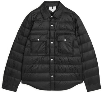 Arket Quilted Down Shirt Jacket