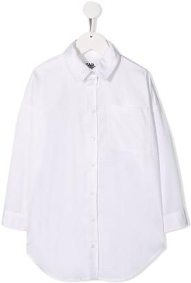 Karl Lagerfeld Paris Embellished Logo Shirt