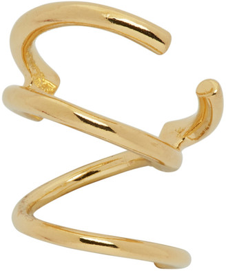 Maria Black Gold Bell Twirl Single Left Earring