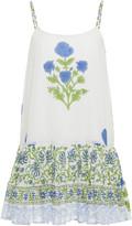 Juliet Dunn Floral-Print Cotton Mini Dress