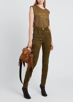 Balmain Cargo Pocket Skinny Jeans
