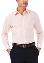Haggar Solid Poplin Dress Shirt - Regular Fit, Point Collar