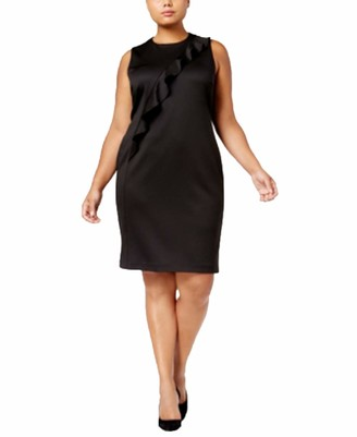 Calvin Klein Women's Size Dress W/Asymetrical Ruffle
