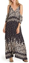 Billabong Women's Desert Dance Cold Shoulder Maxi Dress