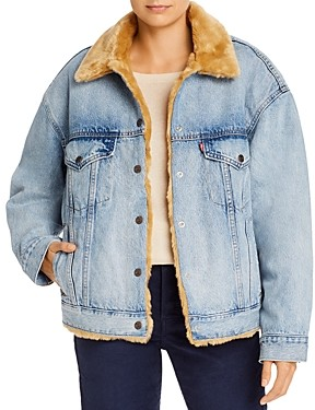 Levi's Reversible Faux Fur & Denim Dad Trucker Jacket