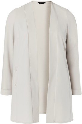 Evans Grey Stud Pocket Jacket