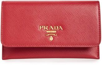 Prada Saffiano Leather Envelope Card Case