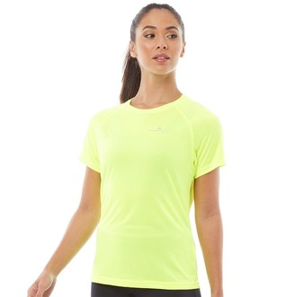 Ronhill Ron Hill Womens Everyday Vapourlite Running Top Fluo Yellow