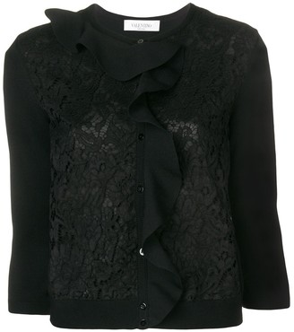 Valentino ruffle lace cardigan