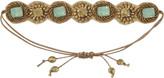 Pink Pewter Mint Drawstring Bracelet