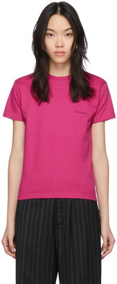 Balenciaga Pink Copyright Logo Fitted T-Shirt