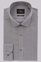 Moss London Extra Slim Fit Charcoal Single Cuff Check Shirt