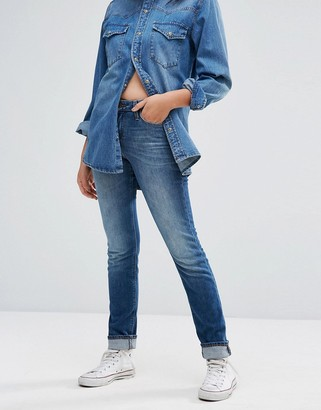 Lee Elly Slim Straight Mid Rise Jeans-Blue