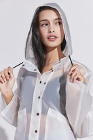 Silence & Noise Silence + Noise Bess Clear Cropped Raincoat
