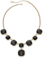 JCPenney MONET JEWELRY Monet Gold-Tone Jet Black Y Necklace