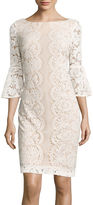 Danny & Nicole 3/4-Sleeve Lace Sheath Dress