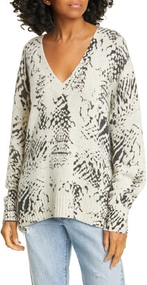 Brochu Walker Camille Snake Pattern Cashmere Sweater