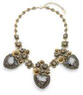 Natasha Handset Antique Floral Station Necklace