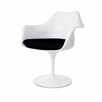 Orren Ellis Jacobs Mid-Century Dining Chair Color: White/Black
