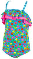 Zoggs Toddler Girls Happy Check Tieback One Piece