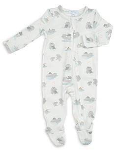 Angel Dear Unisex Hippo Print Footie - Baby