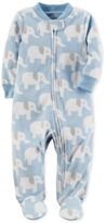 Carter's Elephant-Print Fleece Footed Coverall, Baby Boys (0-24 months)