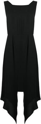 Chanel Pre Owned Asymmetric Panels Midi Dress