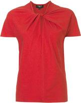 Paule Ka tie knot detail T-shirt - women - Cotton/Spandex/Elastane - M