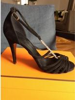 Hermes Black Suede Heels 39,5