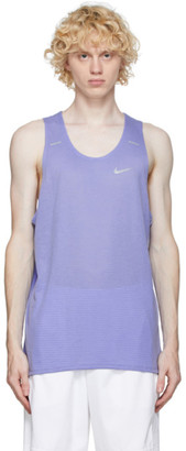 Nike Purple Rise 365 Running Tank Top
