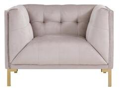 """Everly Quinn Newson Single Bench Cushion 42.5"""" Armchair Fabric: Silver"""