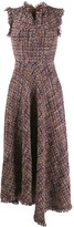 Talbot Runhof Asymmetric Tweed Dress