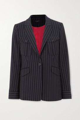Rag & Bone Owen Pinstriped Wool-blend Blazer - Navy