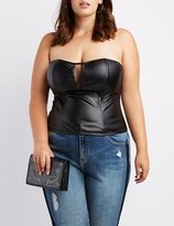 Charlotte Russe Plus Size Faux Leather Strapless Bustier