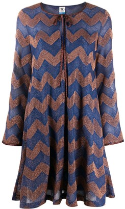M Missoni Chevron Knit Mini Dress