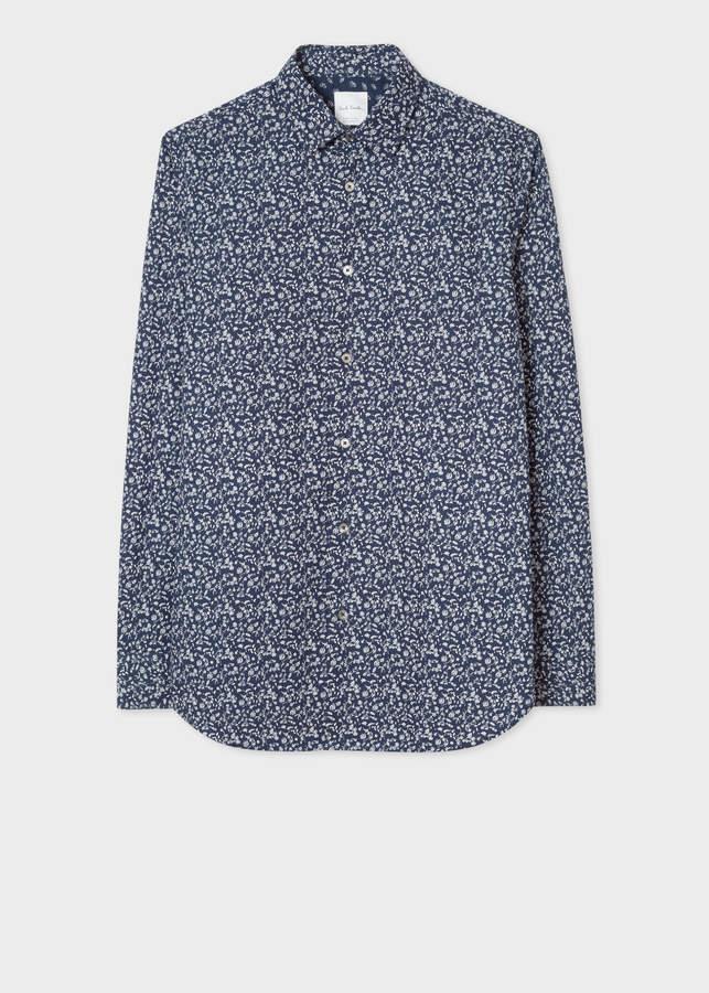 399c176b90ff66 Floral Print Shirt Men Navy - ShopStyle