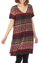Fat Face Clara Folklore Stripe Dress, Multi
